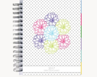 Daily Sidekick Planner – Personalized  | Monthly Calendar | To Do List | Hourly | Organizer | Agenda | Bound | Bouquet