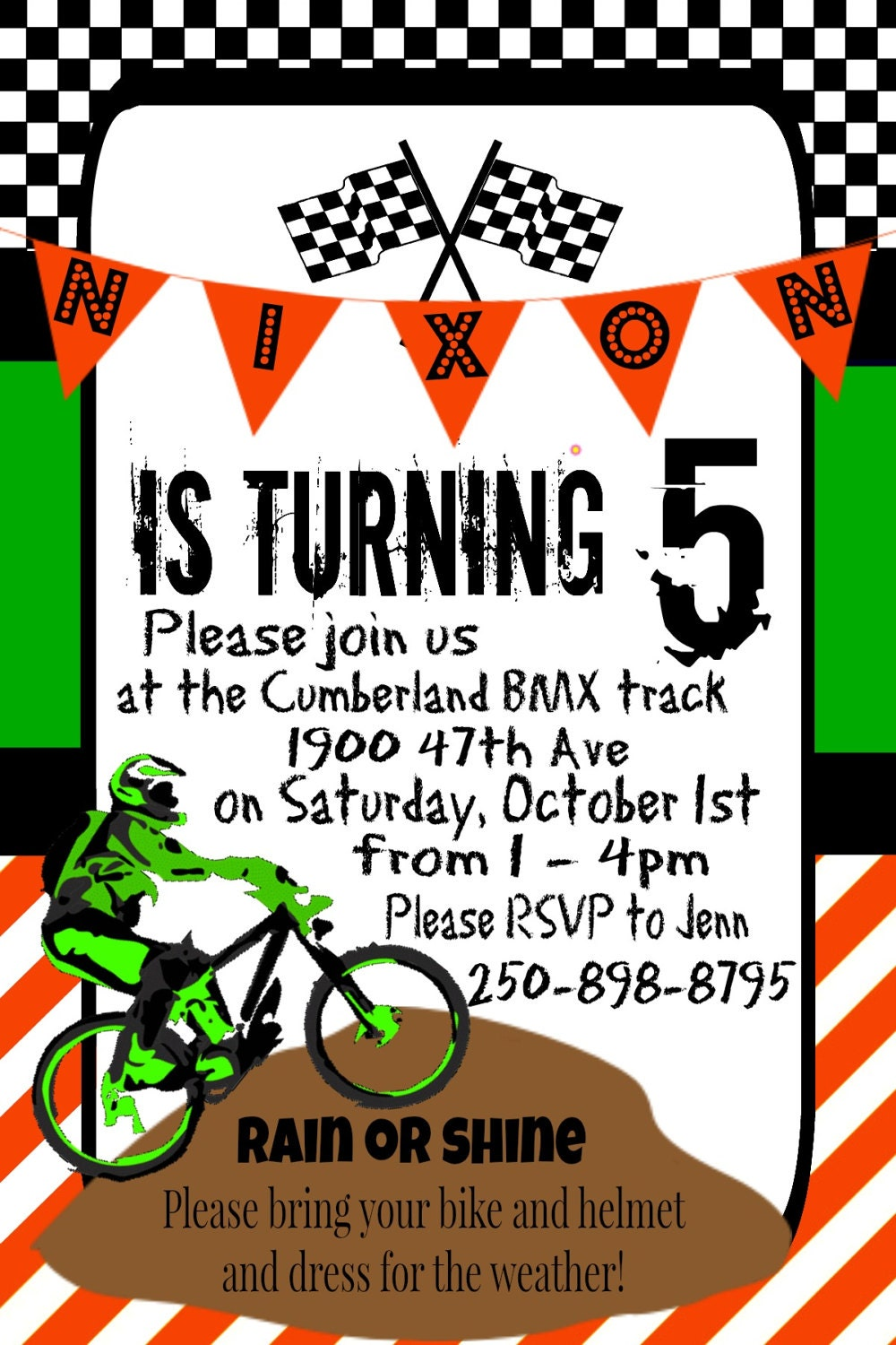 Dirt Bike Birthday Party Invitations >> Dirt Bike Party Invitations ...