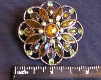 Gift under 15, Rhinestone Brooch or pendant Vintage Brooches