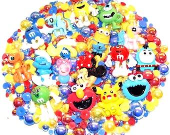 CandyCabsUK Fun Cartoon Characters Kids Phone Cover DIY Kit + FREE Pearls Kawaii