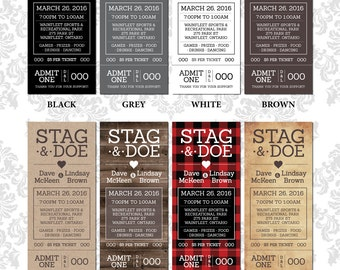 Stag & Doe Tickets - Nice and Simple Tear Tickets