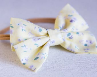 Yellow Spring Bow & Bow tie