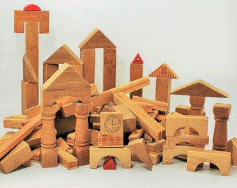 Wooden Building Blocks, Building Blocks, Wooden Bricks,