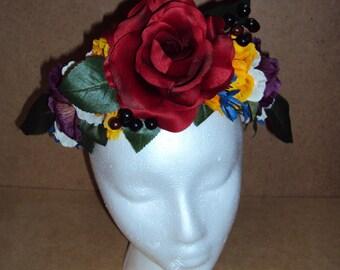 Floral Crown- Red Rose