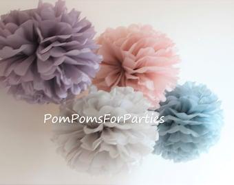 12 (3L/4M/5S) mixed sizes Tissue Paper Pom poms - Hanging poms - Paper flower - Tissue paper balls - Tissue paper pom poms - Tissue flowers