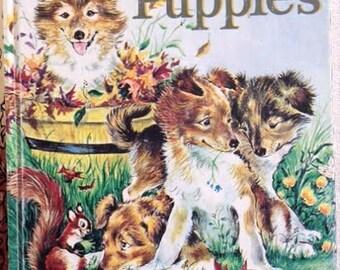 Four Puppies Little Golden Books - 1990