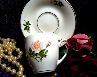 Pickard China  // Demitasse Cup and Saucer // American Rose Association Hamilton Collection.