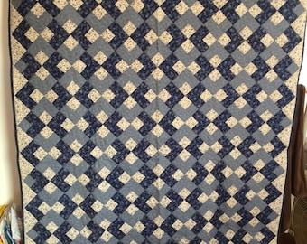 Blue quilt 58 x 80