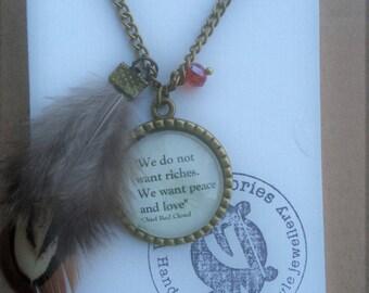 Native American Necklace - Handmade Unique