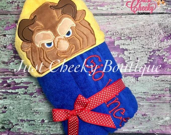 Beast Inspired Hooded Towel - Beast - Beauty and the Beast - Disney Birthday - Disney Princess - Disney Vacation