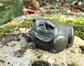 Burly Bronze Toad  Bronze Cast Garden Ornament.