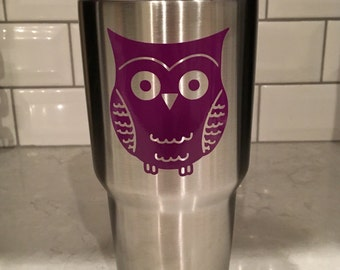 Owl Decal ~ Vinyl Decal ~ Yeti decal ~ Tumbler Decal ~ personalization ~ Decal Only