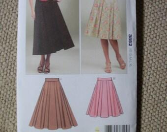 Kwik Sew 3852 Misses XS to XL full skirts