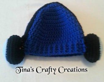 Headphone Beanie, Headphone Hat, Photo Prop, Photography Prop, Winter Beanie, Headphones, Fun Beanie, Crochet Hat, Handmade Hat, Warm Hat
