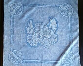 Southern Belle Blue Vintage Harley-Davidson Bandana