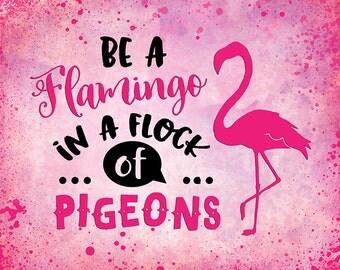 pink Flamingo quote print