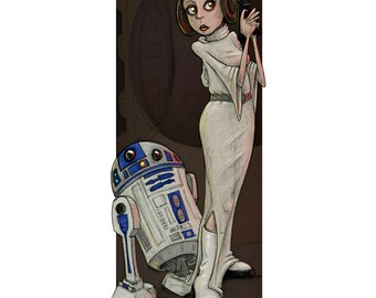 "Princess Leia giclée fine art print - 8.5"" x 11"" - signed by C. Spliedt"