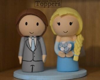 Wedding Cake Topper - Elsa Bride & Groom