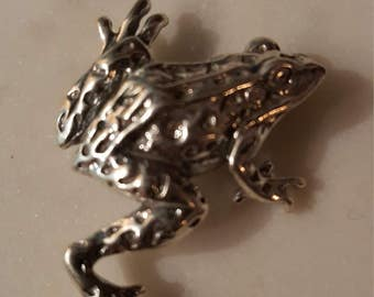 Sterling frog brooch/sterling Jewelry / Sterling frog brooch / tree frog pin / frog Jewelry / sterling brooch /925 pin