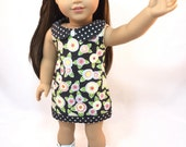 "18 inch doll clothes ""The Andi"" Eco-Friendly Shift Dress, Headband, & Boots for ""American Girl"" Doll"