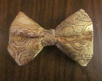 Bow Tie - Gold jacard