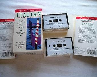 Vintage Books|Vintage Tapes|Living Language Italian|Italian Course|Speaking Italian|Learn to Speak Italian|Travel Italy