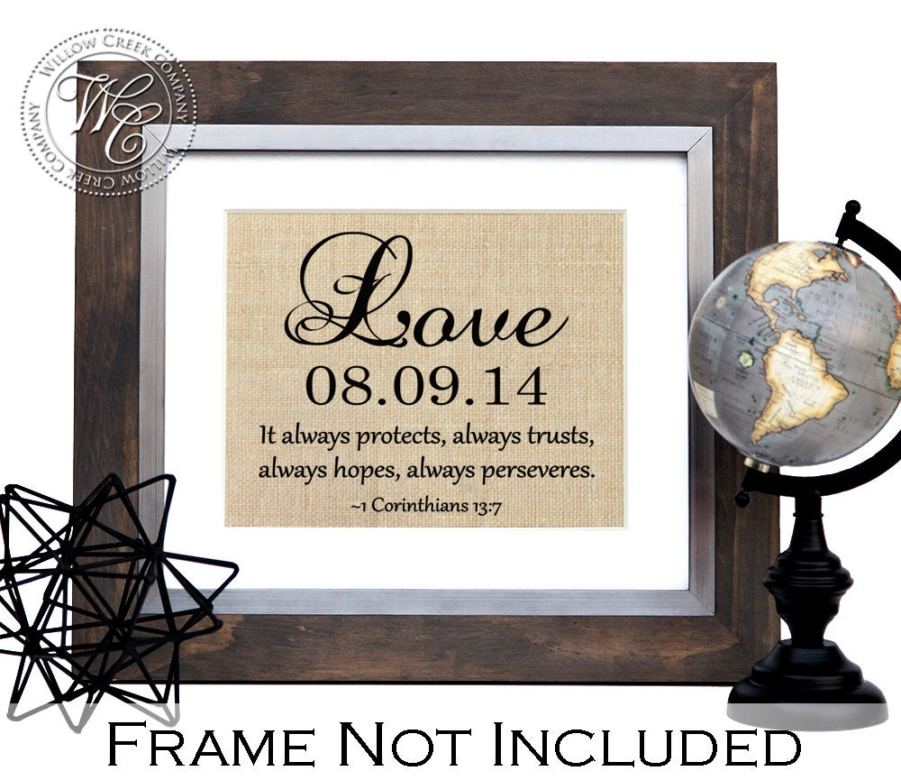 Unique Wedding Gifts For Couples: Christian Wedding Gift Personalized Wedding Gift For Couple