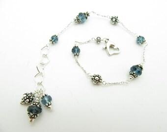 London Blue Topaz bracelet with a dangle