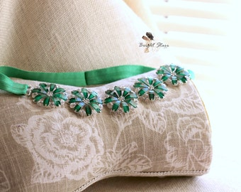 St. Patty's day headband - green headband - St. Patrick's day headband - rhinestone headband - headband for Women - headband  green
