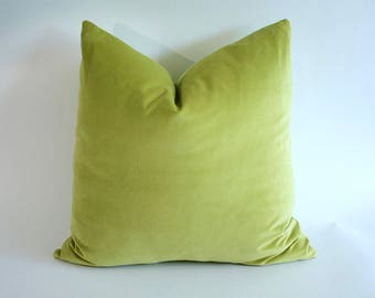ON SALE NOW Chartreuse Velveteen Pillow 24x24