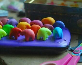 Tiny elephants.