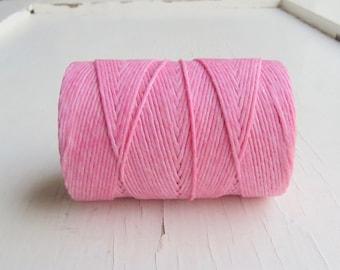 Light Rose 4 ply Irish waxed linen cord - 5 yards - Irish waxed linen thread, pink irish linen cord, 4ply irish linen uk