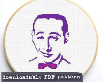 "Counted Cross Stitch Pattern ""Pee Wee"""