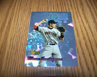 1997 Nomar Garciaparra (Boston Red Sox) Topps Awesome Impact Insert Card