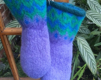 Felted Houseboots approximate size 6.5 - 7