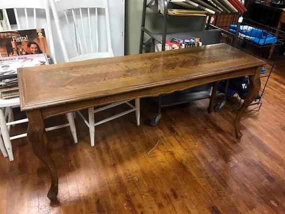 Oak sofa table or console table