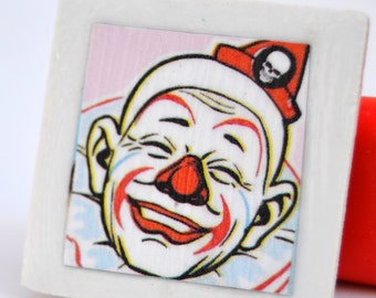 tile magnet with clown
