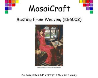 MosaiCraft Pixel Craft Mosaic Art Kit 'Resting From Weaving' (Like Mini Mosaic and Paint by Numbers)