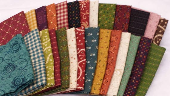 Kim Diehl fabric bundle, 27 fat 1/8 pieces all from the Welcome Wagon Collection