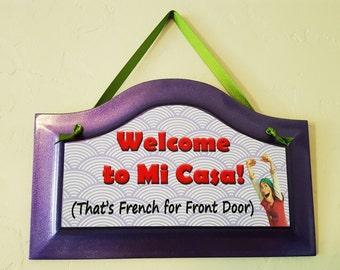 """BIG HERO 6 Fred """"Welcome to Mi Casa!"""" Door Sign"""