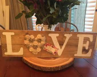Rustic LOVE sign, Rustic wall decor, Shabby Chic home decor, Rustic decor, Rustic home sign, Rustic Love sign, Rustic Wedding sign