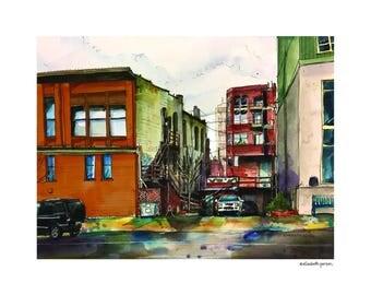 Everett Alley  /// Sketchy Everett Series