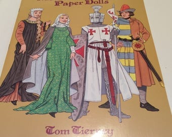 REDUCED Medieval Costumes Paper Dolls Book by Tom Tierney