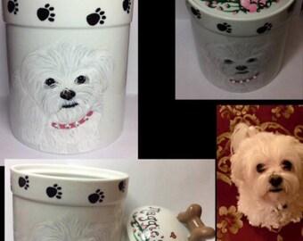 Pet Treat Canister Dog Treat Jar Custom Dog Cookie Jar
