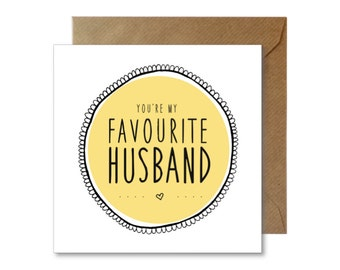 Favourite Husband Card