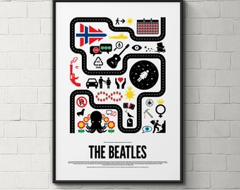 The Beatles pictogram poster