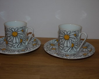 Coffee Cup + Saucer - IKEA - 70s - Marguerite Walfridsson - RETRO - Margueriter - Summer - Sweden - Scandinavian Design