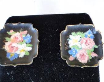 Vintage Hand Painted Earrings