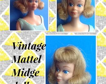 Vintage Mattel Midge doll