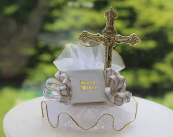 First Holy Communion Cake Topper / First Communion / Cake Decoration / Bible Cake Top